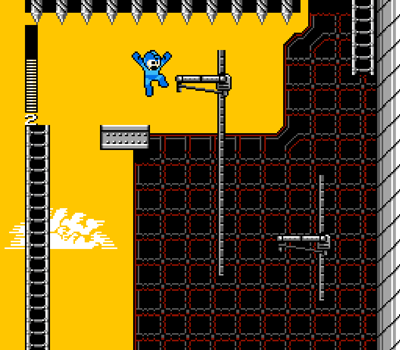 Mega Man Unlimited's spike ceilings